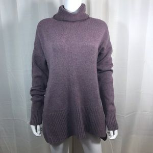 Lou & Grey Purple Wool Cardigan Sweater